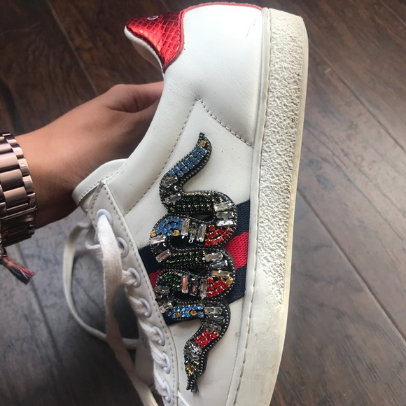 Gucci Shoes   Gucci Snake Embroidered